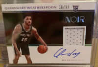 2019-20 Panini Noir QUINNDARY WEATHERSPOON RC Rookie Patch Auto RPA /99 #370 RPA