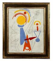 Max Ackermann (1887-1975) Original Oil Painting  dated 1949