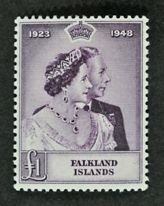 FALKLANDS, KGVI, 1948, £1 Silver Wedding value, SG 167, UM condition, Cat £90.