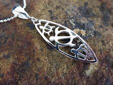 Hawaiian 925 Sterling Silver PETRO TURTLE SURFBOARD Pendant Necklace # SP27201