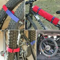 Bicycle Fixing Strap Magic Bike Adjustable Sticker Bandage Cycling Riding D3E6