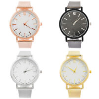 Luxus Damen Männer Edelstahl Uhr Analog Quarz Armband Armbanduhren Geschenk Neu
