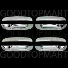 FOR CADILLAC DTS 06-11 CHROME 4 DOORS HANDLES COVERS W/OUT PASSENGER KEYHOLE