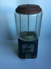 1950's Oak Acorn Gumball Dispensing Machine Antique/Vintage Coin Operated Jar