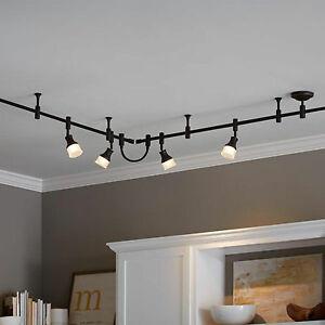 Allen + Roth Flexible Track Light Lighting Inline Power Connector Dark Bronze