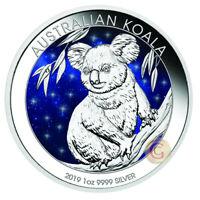 Australia 2019 1 OZ Koala Glowing Galaxy