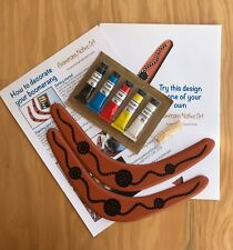 Australian Made paint your own boomerangs - Pack of 2 Boomerangs with paints etc