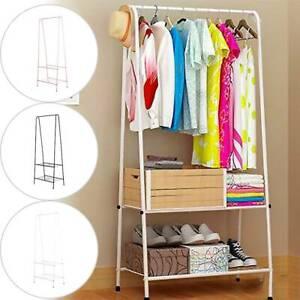 Clothes Rail Rack Garment Dress Hanging Display Stand Shoe Storage Shelf Metal