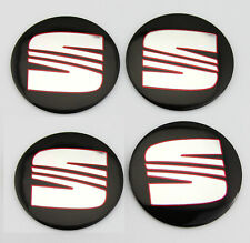"4X 56mm 2.2"" Car Wheel Center Caps Hub Cover Decal Sticker For Seat Ibiza Leon"