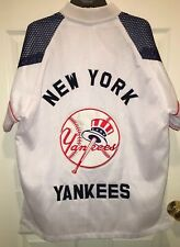 New York Yankees Red White Blue Full Zip Mesh Warm Up Jacket Jersey Size XL ?