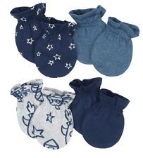 Gerber Newborn Baby Boy Organic Cotton Mittens, 4-pack, Size: 0-3 Months