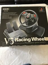 V3 Racing Wheel For Playstation and ps2 Steering Wheel + Pedals InterAct Gaming