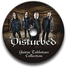 DISTURBED HEAVY METAL ROCK GUITAR TAB TABLATURE SONG BOOK TUITION SOFTWARE CD