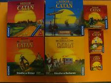 Die Siedler von Catan Konvolut mit Karten & Würfelsp. (modellierte Spielfiguren)
