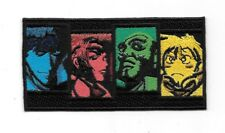 Cowboy Bebop Japanese Anime' Main Character Faces Embroidered Patch NEW UNUSED