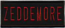 Ghostbusters 2  Style Embroidered Name Tag Iron-On Patch - ZEDDEMORE