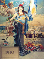 "18x24""CANVAS decoration.Room Interior art design.Fernet Branca Milano glory.7604"