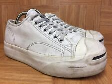 Worn🔥 Women's Converse Jack Purcell Chunky Platform Soles White Leather Sz 9