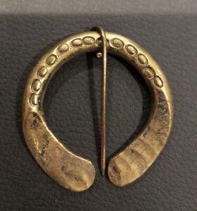 Vintage Brass Fibula Brooch