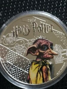 The Official Harry Potter Silver-Plated Coin 2020 - Dobby Samoa half dollar