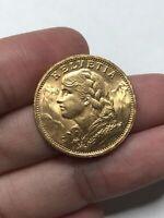 1935 Helvetia Gold Coin Bullion