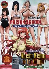 DVD Uncut Monster Musume + Prison School Complete Series Anime Pack Eng Subs