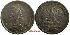 Mexico SECOND REPUBLIC Silver 1881/0 CN D 50 Centavos OVERDATE KM# 407.2