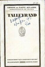 C1 NAPOLEON Comte Saint Aulaire TALLEYRAND 1936