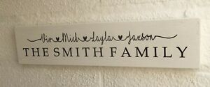 Home Sweet Home Personalised Family Wooden Sign plaque House Warming Gift