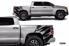 Vinyl Graphics Decal Wrap Kit fits Toyota Tundra TRD 2014-2017 TORN Matte Black