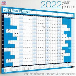 2022 Year Planner Wall Chart+Calendar+Holidays✔Home✔Office ✔WIDEST RANGE ON EBAY