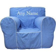 Insert For Pottery Barn Anywhere Chair + Light Blue Cover Reg Size Embroider Wh