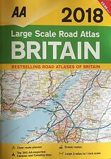 AA Large Scale Road Atlas Britain 2018 (Road Map) A3 - Brand New