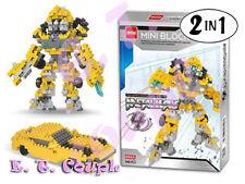Dr Star super hero bumblebee transformers yellow cars battle diamond mini blocks