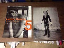 2 rare CD lp PROMO Poster 24x18apx LENNY KRAVITZ Prince MUSIC ..RARE music