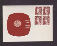 1967 One Cent Coin & Stamp Set Australia First Day Cover First Issue Set  J-53