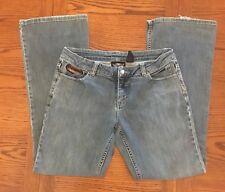 Harley Davidson Women's Medium Wash Distressed Boot cut Jeans Size 8