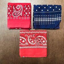 Vintage Bandana Lot Bundle Of 3 Handkerchiefs RN 13960 TOWER PARIS