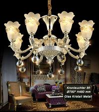 Kronleuchter Deckenleuchte SS109-8fl  Luxus Design Kristall ,Glas, Metall E14