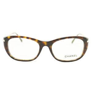 Chanel CH-3295-B-C-714 51mm 17mm 135mm Havana Gold Eyeglasses New Authentic