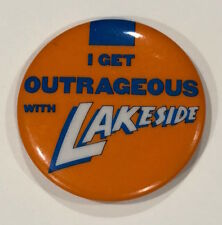RARE Vintage 1984 LAKESIDE button Elektra Asylum promo pin badge funk band