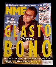 NME magazine 25 June 2011 Glastonbury Preview - Glasto vs Bono