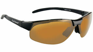 Flying Fisherman Maverick Sunglasses Matte Black Frame Amber Lens 7812BA