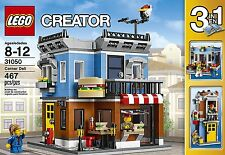 LEGO Creator Corner Deli Townhouse Flower Shop Kids 31050, 3 in 1 467 pcs New