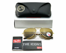 Ray-Ban RB3025 Aviator Classic 001/57 Gold Frame/Polarized Brown B15 Lenses 58mm