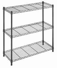 Whitmor Supreme 3 Tier Shelving with Adjustable Shelves and Leveling Feet -