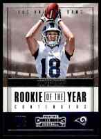 2017 PANINI CONTENDERS ROOKIE OF THE YEAR COOPER KUPP RC RAMS #RY-26 INSERT