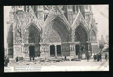 Military WW1 France RHEIMS Bombardment of the Cathedral Edition Patriotique PPC