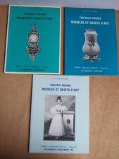 3 CATALOGUES ENCHERES 1981 DELORME TABLEAUX ANCIENS MEUBLES OBJETS D'ART FAIENCE