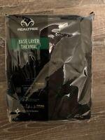Mens REALTREE Base Layer Black Thermal Bottoms Sz XL/XG FREE SHIPPING NEW🦅